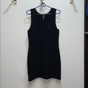 RALPH LAUREN Black Bodycon Ribbed Dress